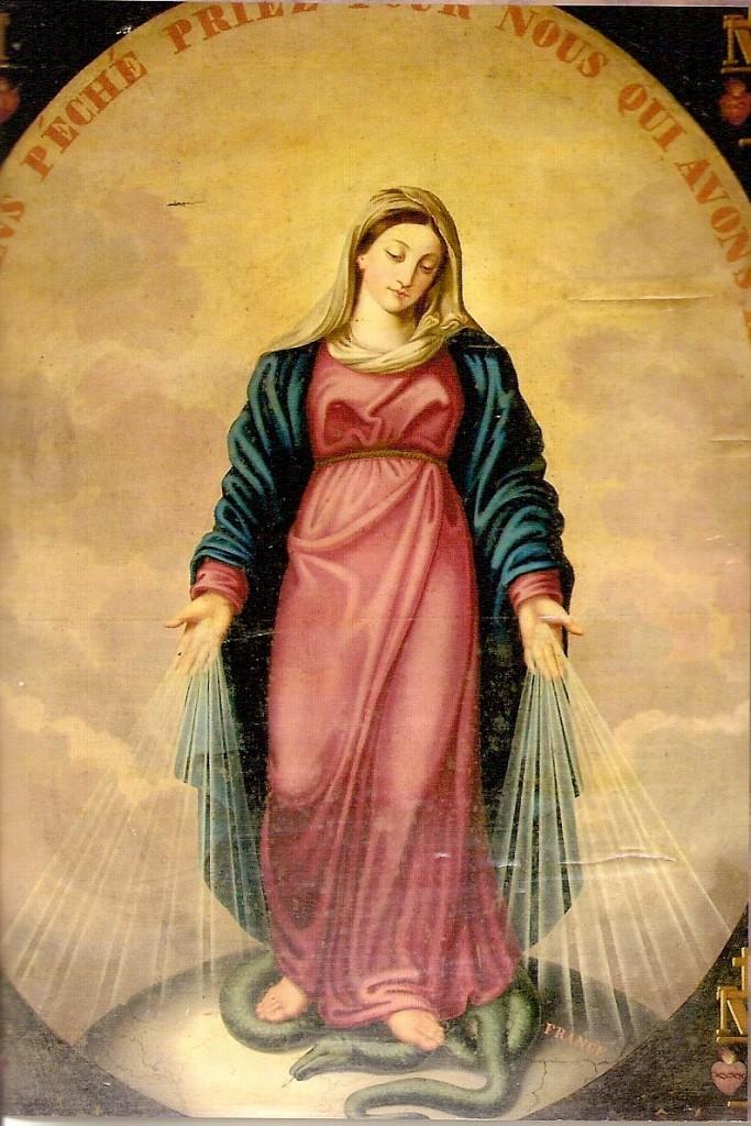 peinture de la vierge miraculeuse